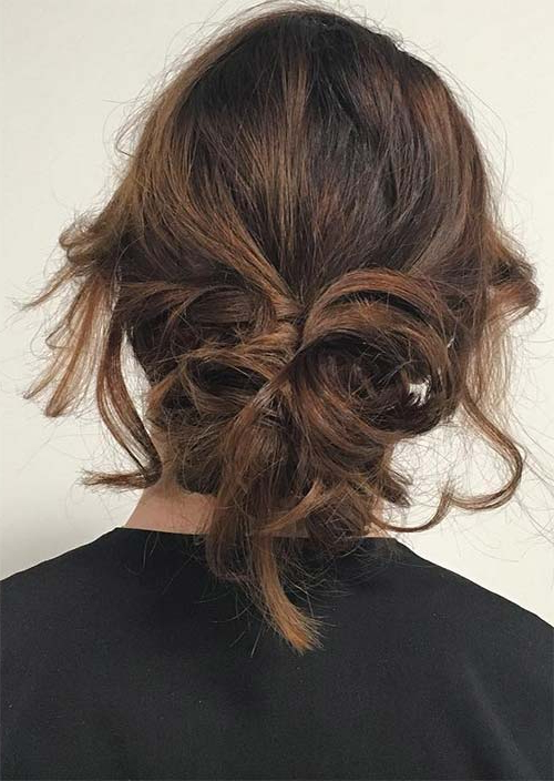 63 Creative Updos For Short Hair Perfect For Any Occasion Within Recent Softly Pulled Back Braid Hairstyles (View 11 of 25)