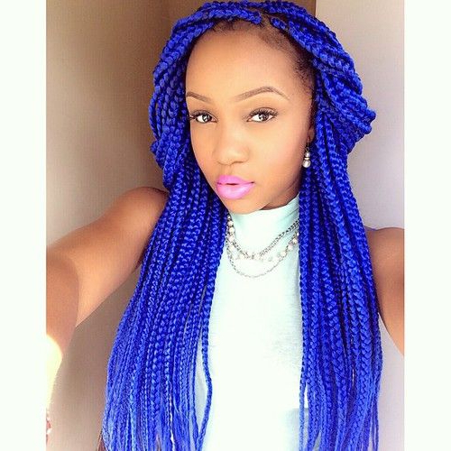 65 Box Braids Hairstyles For Black Women | Hair Story | Box With Regard To Most Up To Date Blue And Black Cornrows Braid Hairstyles (View 3 of 25)