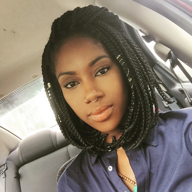65 Box Braids Hairstyles For Black Women Intended For 2018 Long And Short Bob Braid Hairstyles (View 25 of 25)