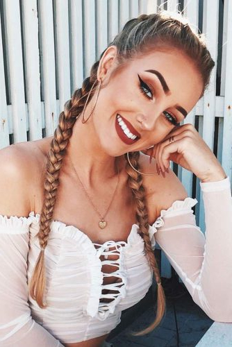 65 Charming Braided Hairstyles | Lovehairstyles Throughout Recent Long Hairstyles With Multiple Braids (View 10 of 25)