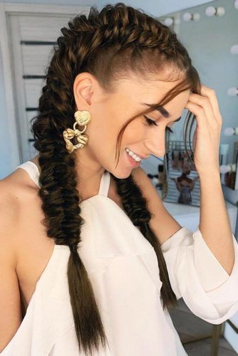 65 Charming Braided Hairstyles | Lovehairstyles With Regard To Best And Newest Double Headband Braided Hairstyles With Flowers (View 17 of 25)