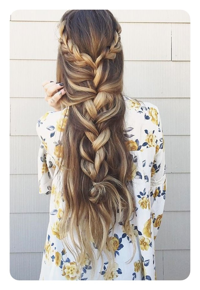 66 Boho Hairstyles For Curly And Straight Hair – Style Easily Regarding Best And Newest Chic Bohemian Braid Hairstyles (View 11 of 25)