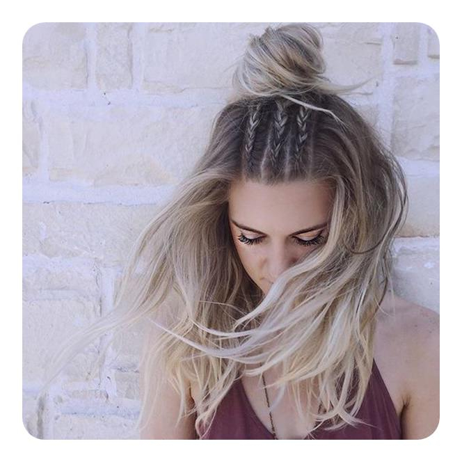 66 Boho Hairstyles For Curly And Straight Hair – Style Easily Within 2018 Half Up Half Down Boho Braided Hairstyles (View 20 of 25)