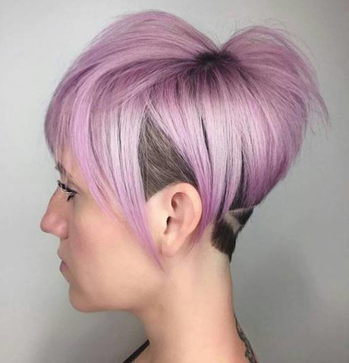66 Shaved Hairstyles For Women That Turn Heads Everywhere With Regard To Best And Newest Purple Pixies Bob Braid Hairstyles (View 19 of 25)