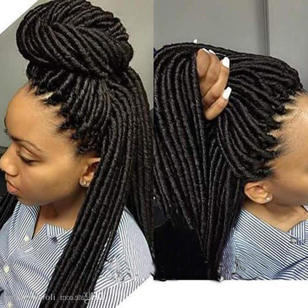 67 Funky Faux Locs Photos To Inspire You Pertaining To Most Recently Blonde Faux Locs Hairstyles With Braided Crown (View 23 of 25)