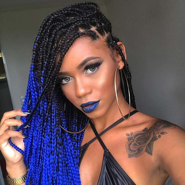 68 Best Black Braided Hairstyles To Copy In 2019   Stayglam Within Latest Afro Under Braid Hairstyles (View 4 of 25)