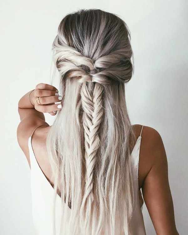 68 Elegant Half Up Half Down Hairstyles That You Will Love Regarding Most Recently Half Up, Half Down Braid Hairstyles (View 12 of 25)