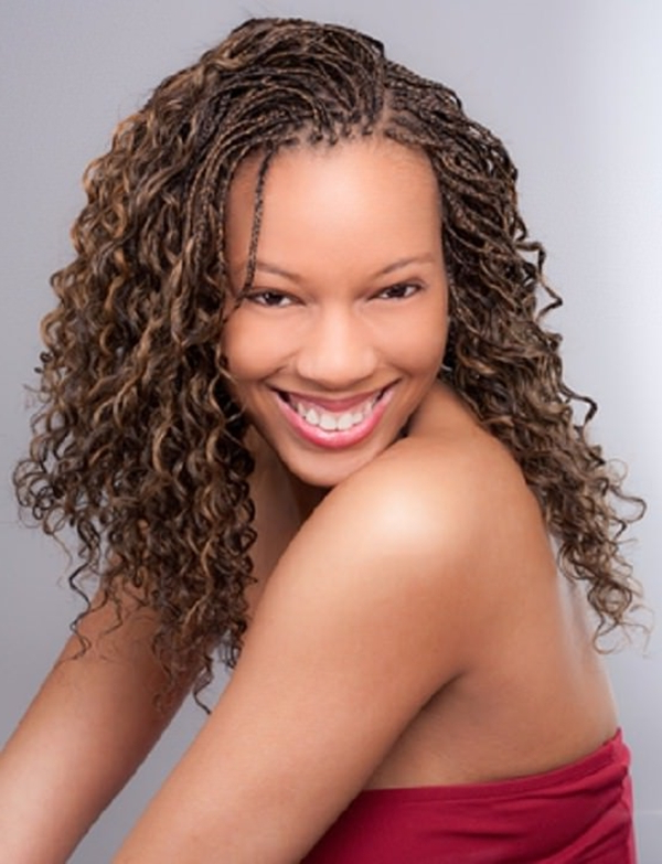 68 Inspiring Black Braid Hairstyles For Black Women – Style Regarding Most Popular Curly And Messy Micro Braid Hairstyles (View 7 of 25)