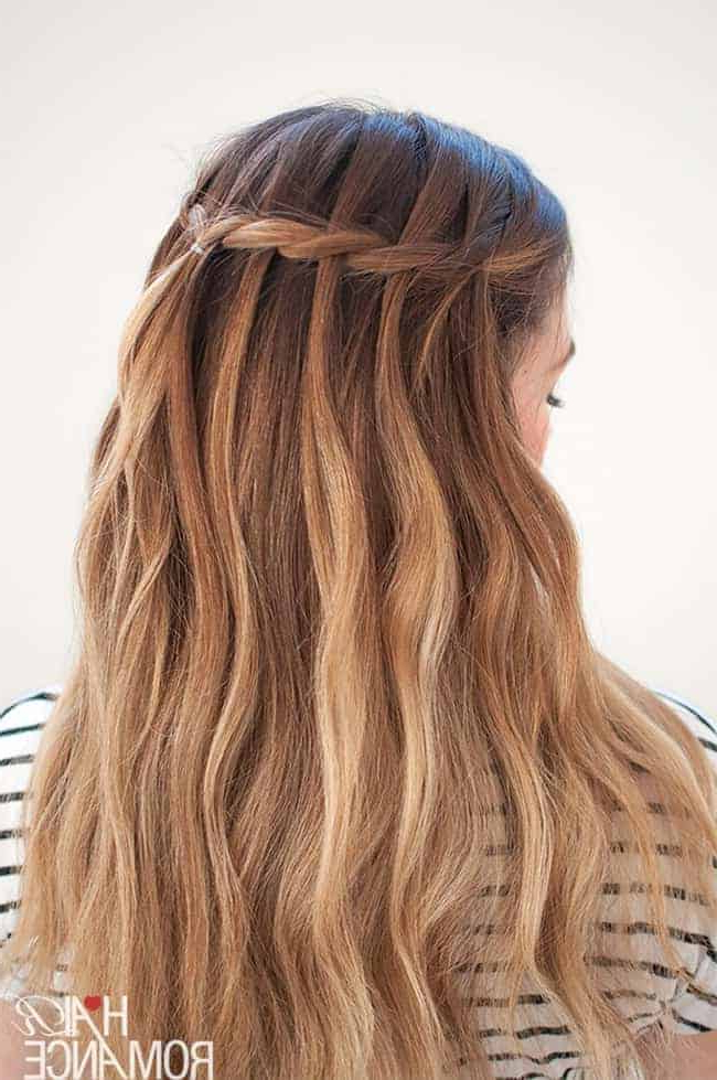 7 Waterfall Braid Tutorials For Perfect Summer Hair | Hello Glow Inside Most Current Waterfall Mermaid Braid Hairstyles (View 8 of 25)