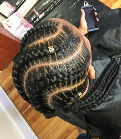 70 Best Black Braided Hairstyles That Turn Heads | Plats pertaining to Most Up-to-Date Red Inward Under Braid Hairstyles