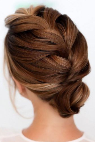 70+ Fun And Easy Updos For Long Hair | Lovehairstyles throughout Most Recently Extra Thick Braided Bun Hairstyles
