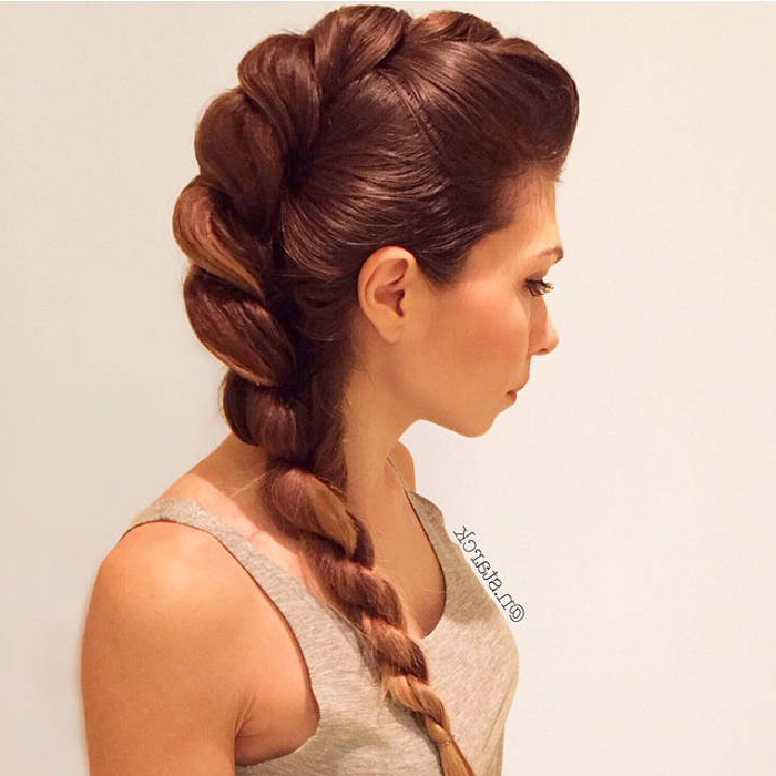 70 Inventive Braids / Braided Hairstyles For Women And Men for Current Loose 4-Strand Rope Braid Hairstyles