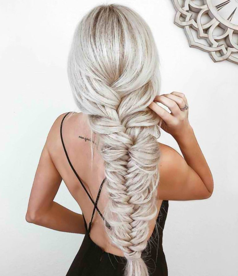 70 Stunning Fishtail Braid Inspirations For A Romantic Look with Most Recent Elegant Blonde Mermaid Braid Hairstyles