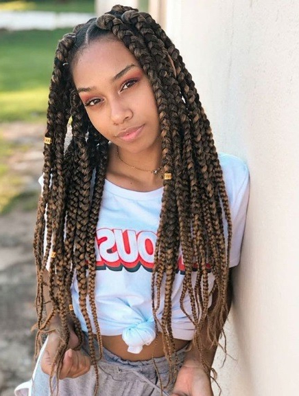 71 Best Braids For Black Women In 2019 | All Things Hair Uk Regarding Latest Highlighted Invisible Braids With Undone Ends (View 9 of 25)