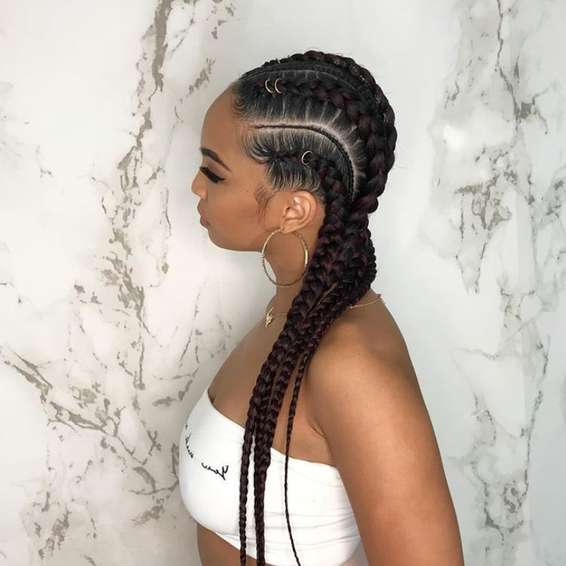71 Best Braids For Black Women In 2019 | All Things Hair Uk within 2018 Purple Passion Chunky Braided Hairstyles
