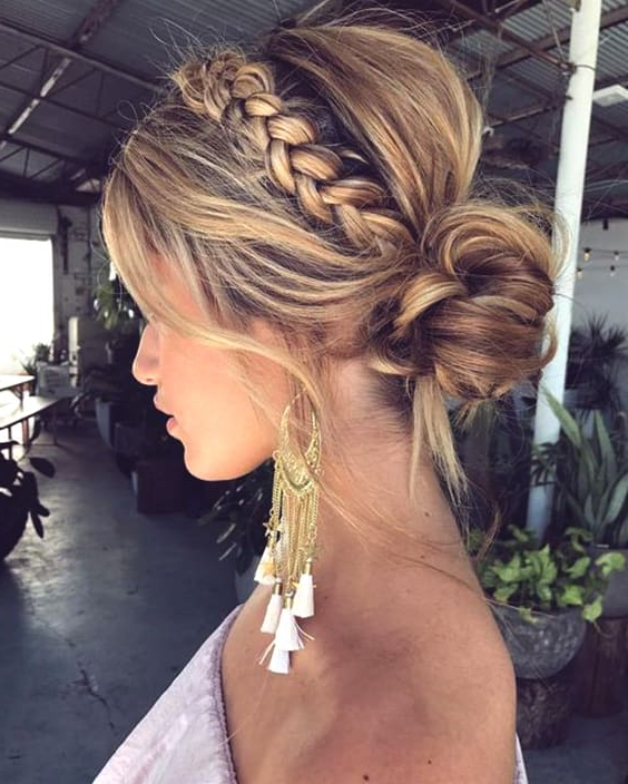 72 Romantic Wedding Hairstyle Trends In 2019 | Ecemella With Most Recent Wedding Braided Hairstyles (View 23 of 25)