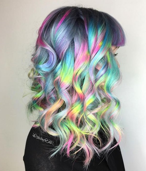 73 Extraordinary Mermaid Hairstyles That Will Turn Heads Inside Latest Cotton Candy Colors Blend Mermaid Braid Hairstyles (View 18 of 25)