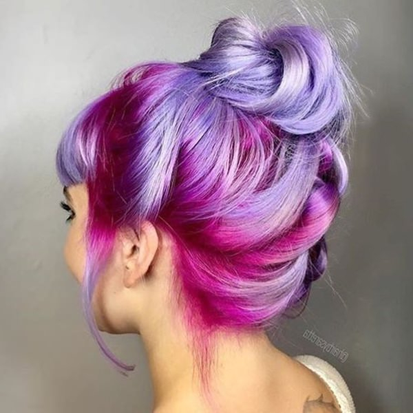 73 Extraordinary Mermaid Hairstyles That Will Turn Heads Pertaining To Latest Cotton Candy Colors Blend Mermaid Braid Hairstyles (View 11 of 25)