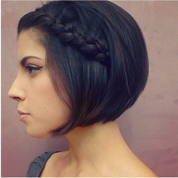 73 Stunning Braids For Short Hair That You Will Love with Most Current Layered Bob Braid Hairstyles