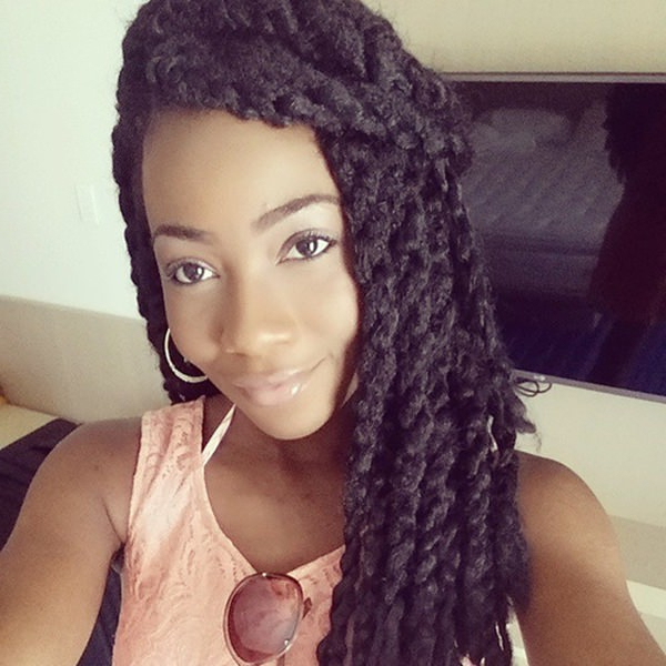 75 Amazing African Braids, Check Out This Hot Trend For Summer pertaining to Most Popular Partial Updo Rope Braids With Small Twists