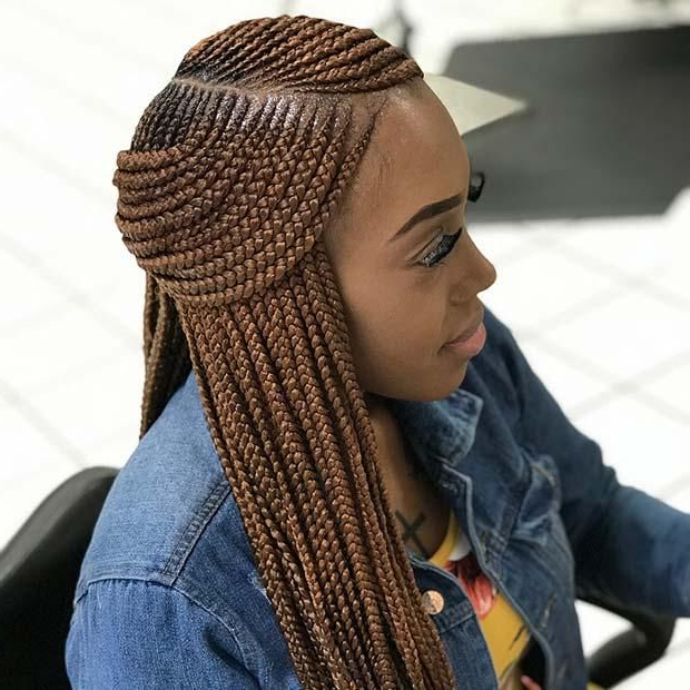 75 Amazing African Braids, Check Out This Hot Trend For Summer With 2018 Forward Braided Hairstyles With Hair Wrap (View 17 of 25)