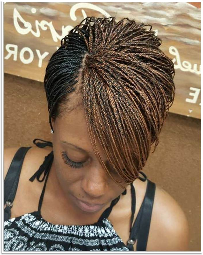 76 Micro Braids To Revamp Your Appearance For 2019 inside Most Current Red And Brown Micro Braid Hairstyles