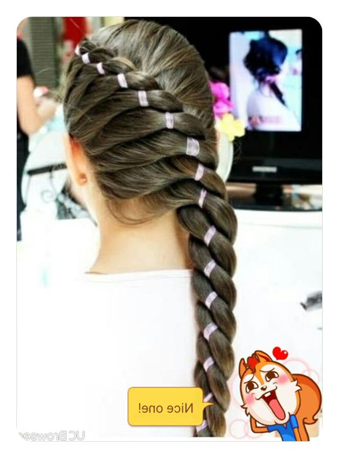78 Unique And Fashionable Rope Braid Hairstyles inside Best and Newest Rope And Fishtail Braid Hairstyles