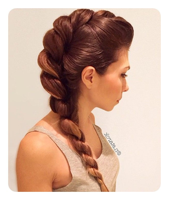 78 Unique And Fashionable Rope Braid Hairstyles inside Most Recently Intricate Rope Braid Ponytail Hairstyles