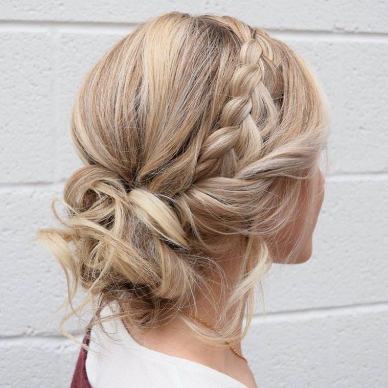 79 Beautiful Bridal Updos Wedding Hairstyles For A Romantic pertaining to 2018 Chunky Crown Braided Hairstyles