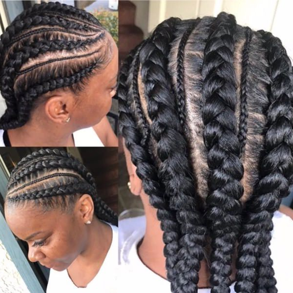 80 Amazing Feed In Braids For 2019 Inside Most Recently Ultra Modern U Shaped Under Braid Hairstyles (View 3 of 25)