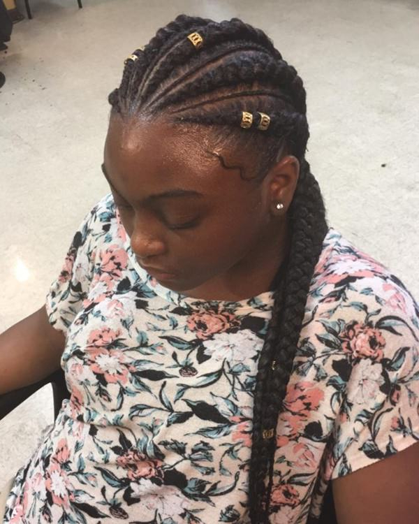 80 Amazing Feed In Braids For 2019 Regarding Most Recently Thick And Thin Braided Hairstyles (View 12 of 25)