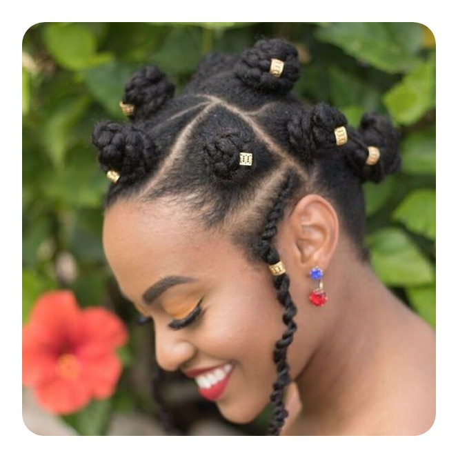 81 Cool Bantu Knots Hairstyles And Tutorial - Style Easily intended for 2018 Bantu Knots And Beads Hairstyles