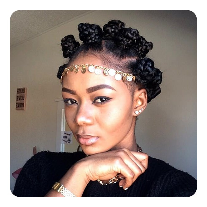 81 Cool Bantu Knots Hairstyles And Tutorial - Style Easily throughout Latest Bantu Knots And Beads Hairstyles