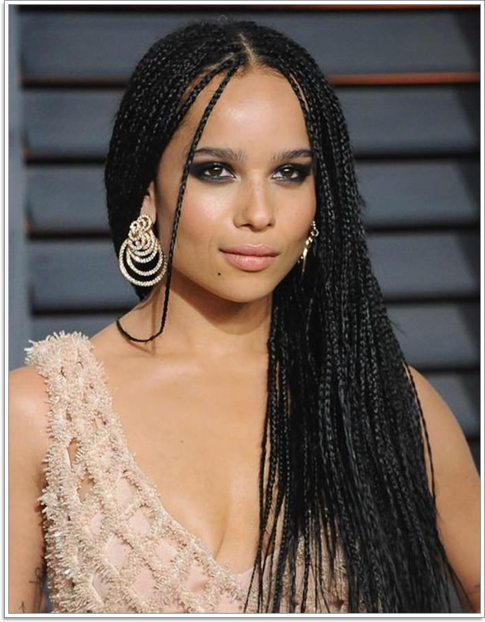 81 Micro Braids You Cannot Miss intended for Most Recently Sleek And Long Micro Braid Hairstyles