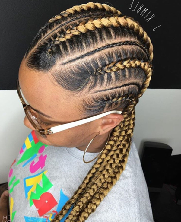 82 Feed In Braids Hairstyle To Rock This Year With Most Popular Thick And Thin Braided Hairstyles (View 8 of 25)