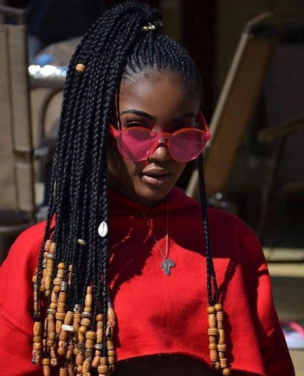 83 Gorgeous Fulani Braids You Should Try This Year - Stylying inside Newest Beaded Pigtails Braided Hairstyles