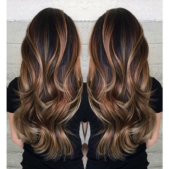 86 Brilliant Brown Hair With Blonde Highlights Ideas inside Newest Tiny Twist Hairstyles With Caramel Highlights