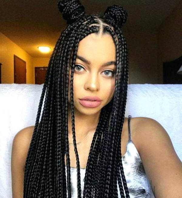 91 Elegant Crochet Braids That Will Blow Your Mind Inside Most Recent Half Up Buns Yarn Braid Hairstyles (View 14 of 25)