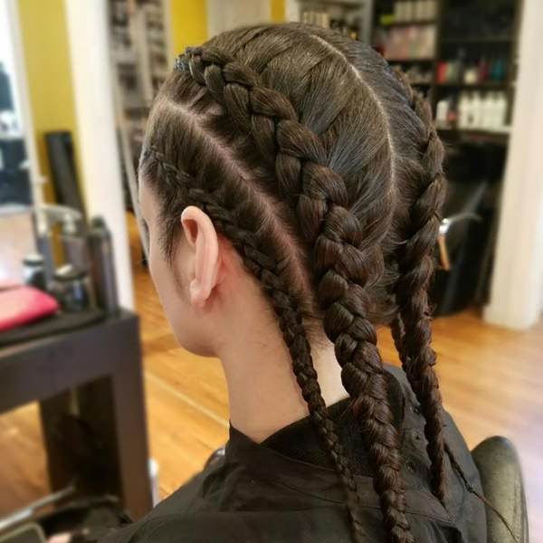 95 Inspirational Dutch Style Braid Ideas That You Will Love Throughout 2018 Long Hairstyles With Multiple Braids (View 17 of 25)