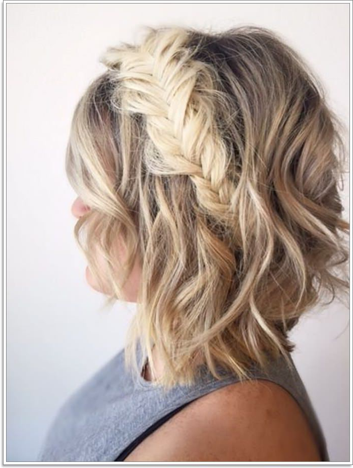 97 Interesting Braids For Short Hair [2019] For Most Recent Elegant Blonde Mermaid Braid Hairstyles (View 22 of 25)
