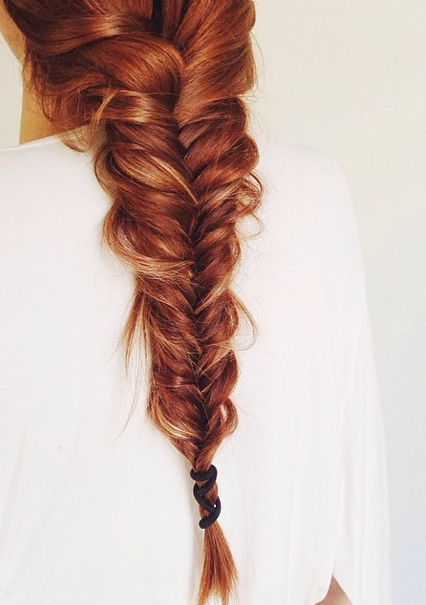 A Beautiful Pulled Fishtail! Her Red Hair Is So Striking In Most Recent 3D Mermaid Plait Braid Hairstyles (View 24 of 25)