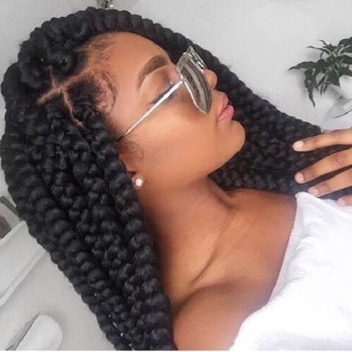 African American Ladies, Feast Your Eyes With These 50 For Latest Lovely Black Braided Updo Hairstyles (View 18 of 25)