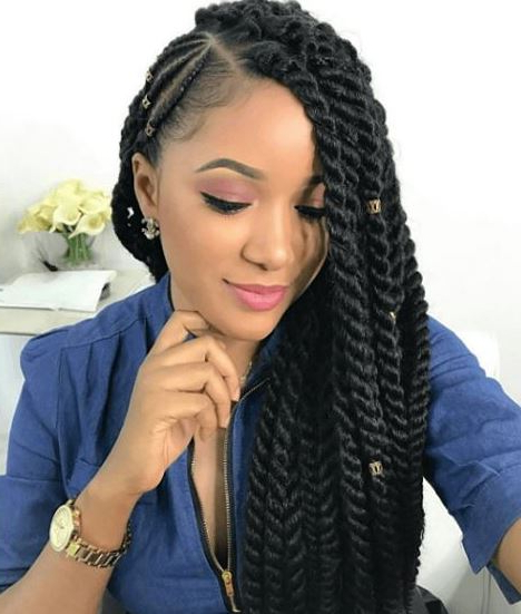 African Hair Braiding: Fascinating Styles & Different Types Regarding Newest Whirlpool Braid Hairstyles (View 22 of 25)