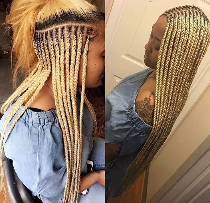 African Hair Braiding : Hair Braiding Hairstyles For Black Intended For Most Up To Date Blonde Braid Hairstyles (View 3 of 25)