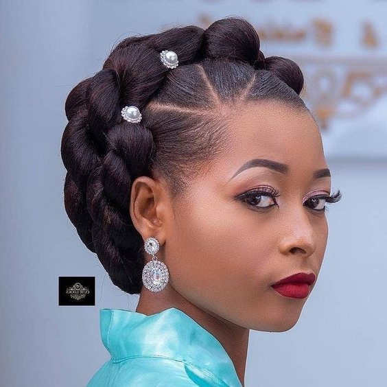 African Queen Hairstyle Nigeria – Black Kitty Family – Medium For Most Up To Date Extravagant Under Braid Hairstyles (View 3 of 25)