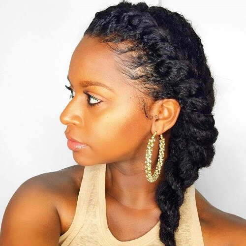Afro Textured Hair Bonanza: 50 Absolutely Gorgeous Natural In Most Recent Wide Crown Braided Hairstyles With A Twist (View 23 of 25)