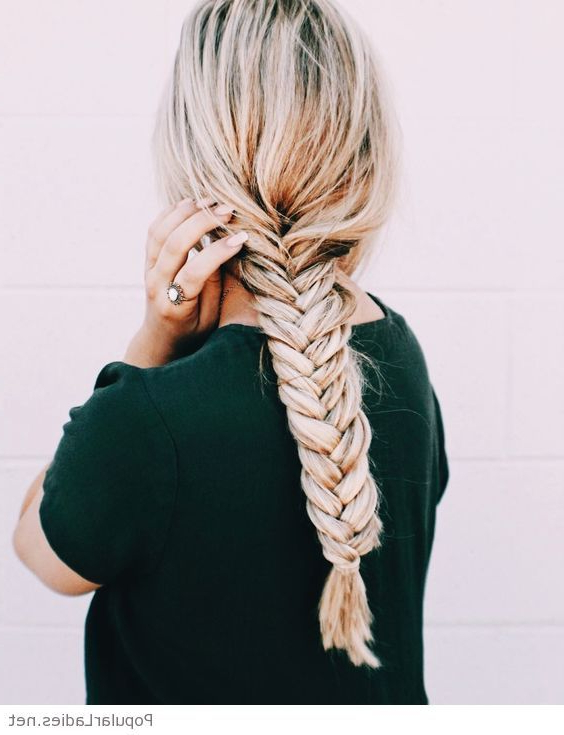 Awesome Large Fishtail Braid In 2019 | ???? | Hair With Most Up To Date Oversized Fishtail Braided Hairstyles (View 4 of 25)