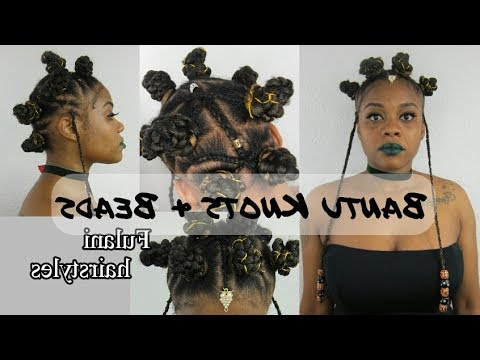 Bantu Knots & Beads And Cornrows W/ Xpression Hair Inside Most Up To Date Bantu Knots And Beads Hairstyles (View 6 of 25)