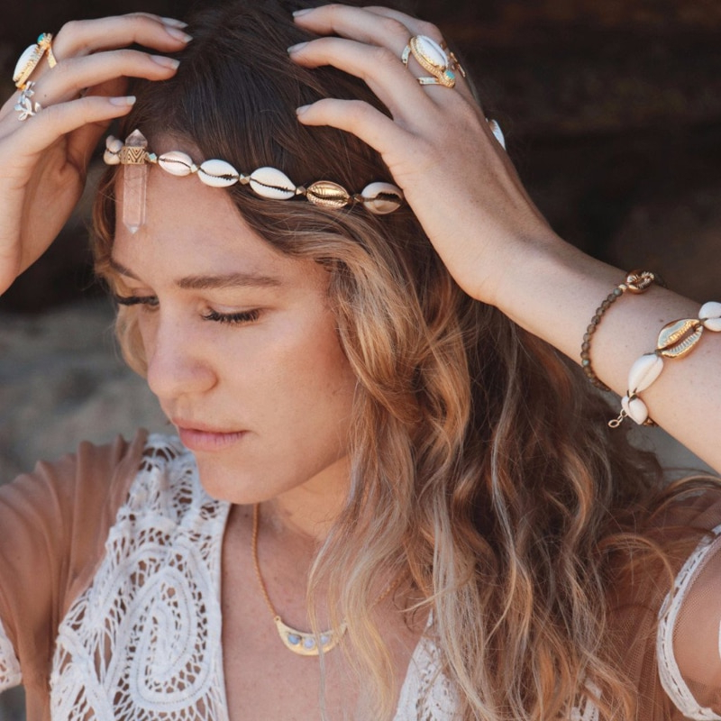 Beachy Cowrie Shell Bracelet Beach Summer Gifts Adjustable Wax String Friendship Bracelet Real Shell Jewelry Handmade Intended For Newest Puka Shell Beaded Braided Hairstyles (View 21 of 25)