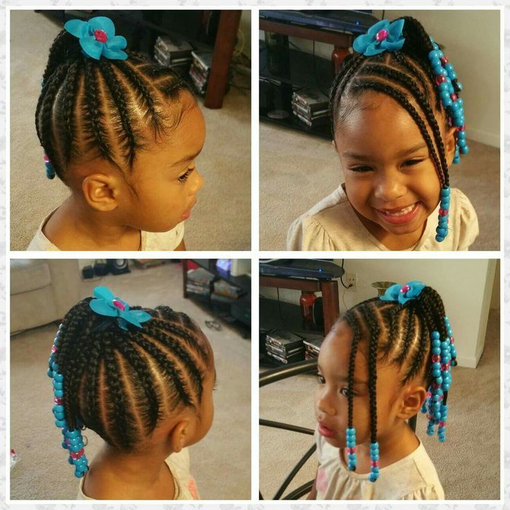 Beautiful Braided Childs Hair Style With Braided Bangs Pertaining To Most Popular Beaded Bangs Braided Hairstyles (View 12 of 25)